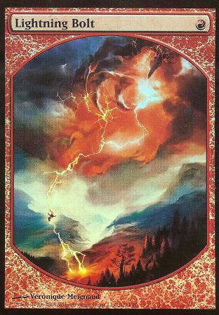 Lightning Bolt (FOIL Textless Player Rewards)