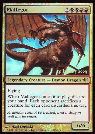 Malfegor (Conflux Prelease Card)