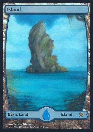 Island (Full Art Nielsen Judge Promo)