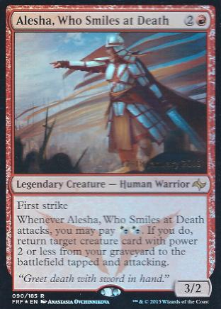 Alesha Who Smiles at Death (Prerelease)