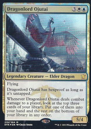 Dragonlord Ojutai (DTK Prerelease)