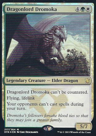 Dragonlord Dromoka (DTK Prerelease)