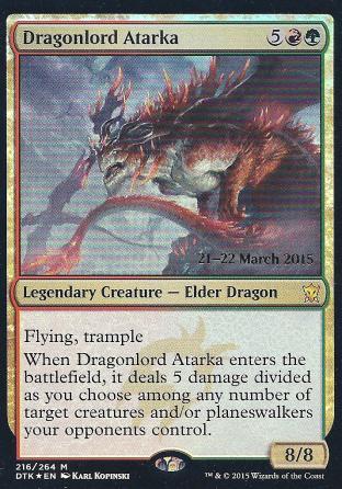 Dragonlord Atarka (DTK Prerelease)