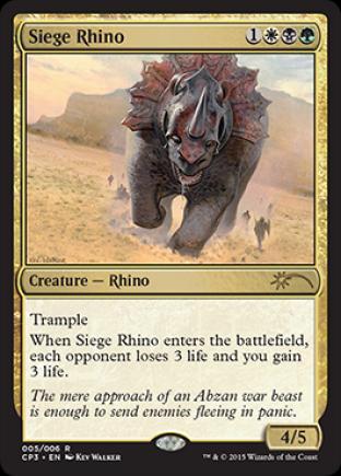 Siege Rhino (Clash Pack Promo)