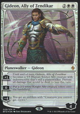 Gideon Ally of Zendikar (Prerelease)