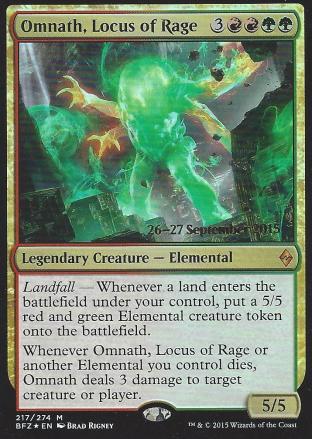 Omnath Locus of Rage (Prerelease)