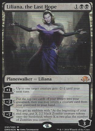 Liliana the Last Hope (Prerelease)
