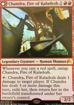 Chandra Fire of Kaladesh (Prerelease Promo)