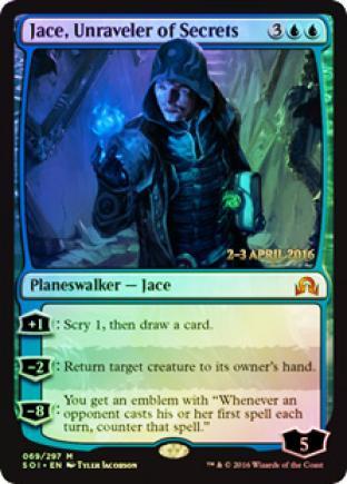 Jace Unraveler of Secrets (SOI Prerelease Foil)