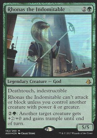 Rhonas the Indomitable (Prerelease)
