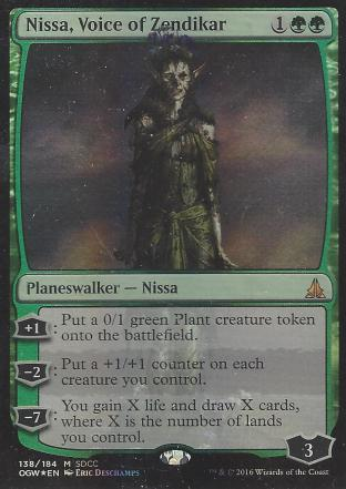 Nissa Voice of Zendikar (SDCC 2016 Zombie)