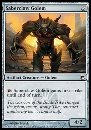 Saberclaw Golem