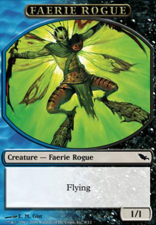 Black Blue Faerie Rogue (Token)