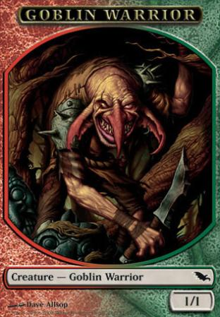 Green Red Goblin Warrior (Token)