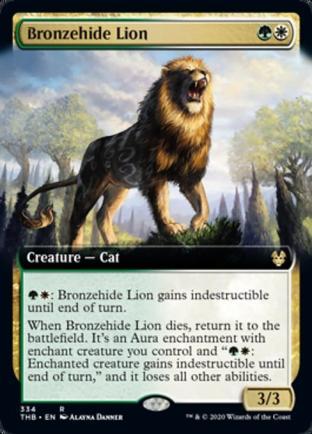 Extended Art Bronzehide Lion