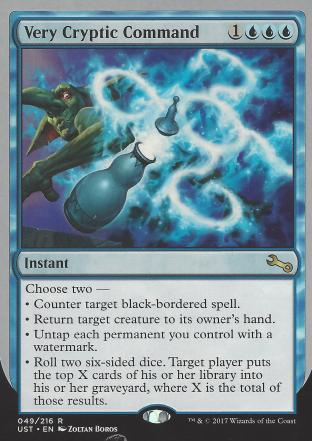 Very Cryptic Command (E) (Counter target black)