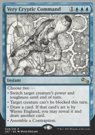 Very Cryptic Command (A) (Switch Target Creature s)