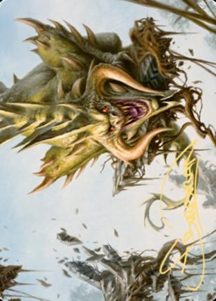 Canopy Baloth Art Card (Gold Stamped Signature)