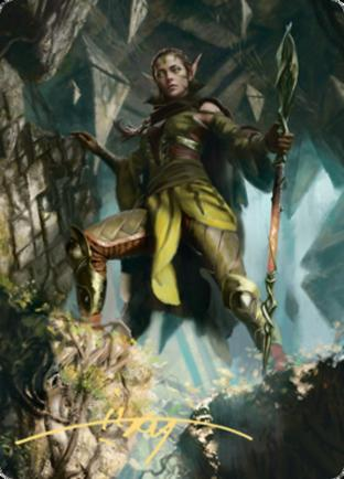 Nissa of Shadowed Boughs 1 Art Card (Gold Stamped Signature)