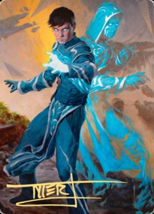 Jace, Mirror Mage 1 Art Card (Gold Stamped Signature)