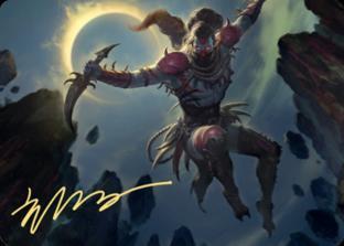 Nighthawk Scavenger Art Card (Gold Stamped Signature)