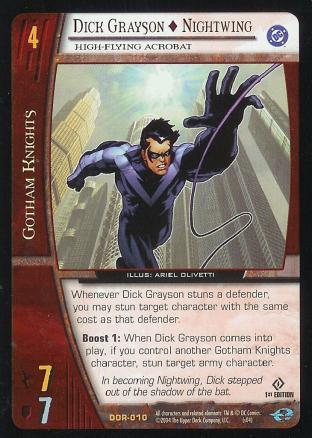 Dick Grayson - Nightwing,  High-Flying Acrobat