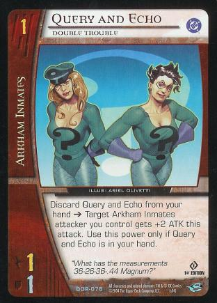 Query and Echo,  Double Trouble