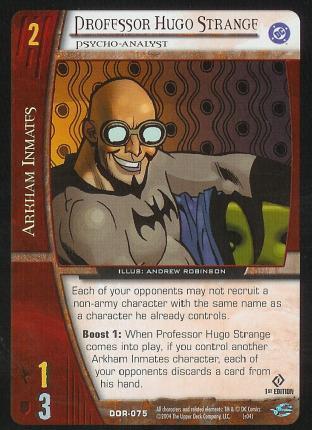 Professor Hugo Strange,  Psycho-Analyst