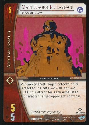 Matt Hagen - Clayface,  Man of Clay