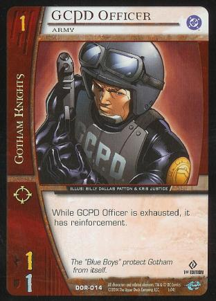 GCPD Officer,  Army