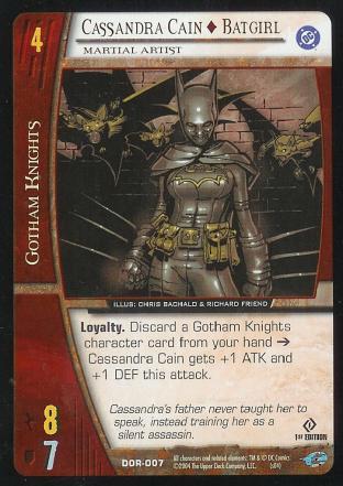 Cassandra Cain - Batgirl,  Martial Artist