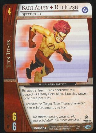 Bart Allen - Kid Flash,  Speedster