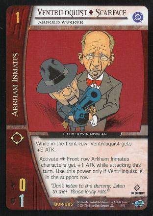 Ventriloquist - Scarface,  Arnold Wesker