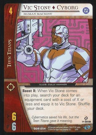 Vic Stone - Cyborg,  Human Machine