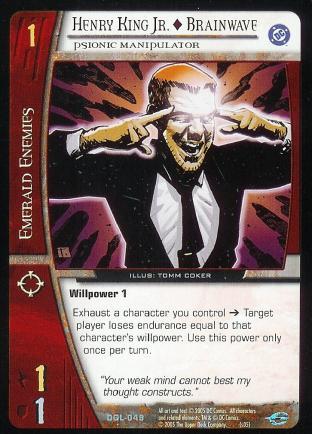 Henry King Jr. - Brainwave, Psionic Manipulator