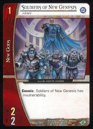 Soldiers of New Genesis, Army