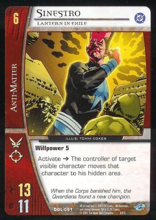 Sinestro, Lantern in Exile