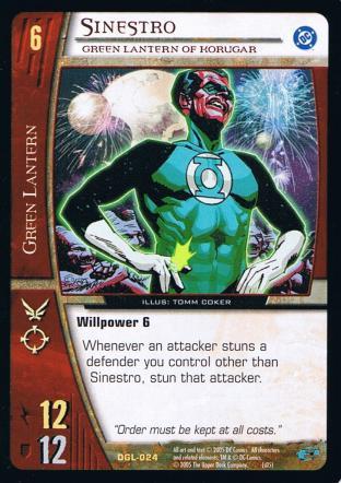 Sinestro, Green Lantern of Korugar