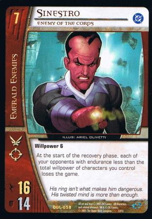 Sinestro, Enemy of the Corps
