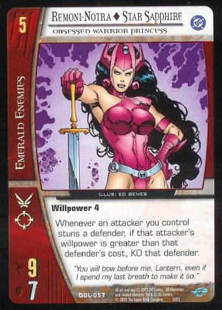 Remoni-Notra - Star Sapphire, Obsessed Warrior Princess