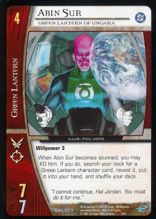 Abin Sur, Green Lantern of Ungara
