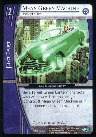 Mean Green Machine, Construct