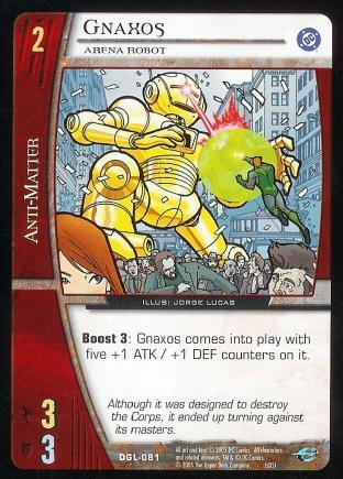 Gnaxos, Arena Robot