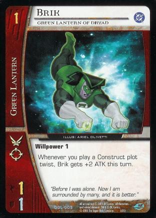 Brik, Green Lantern of Dryad