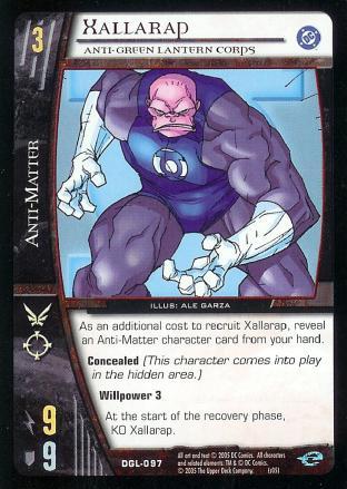 Xallarap, Anti-Green Lantern Corps