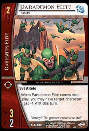 Parademon Elite, Army