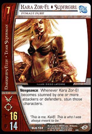 Kara Zor-El  Supergirl, Female Fury