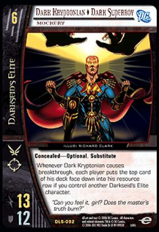 Dark Kryptonian  Dark Superboy, Mockery
