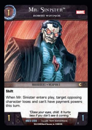 Mr. Sinister, Robert Windsor