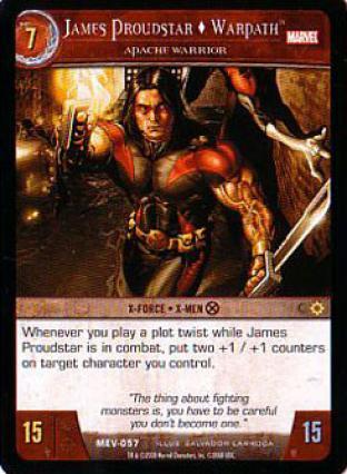 James Proudstar Warpath, Apache Warrior